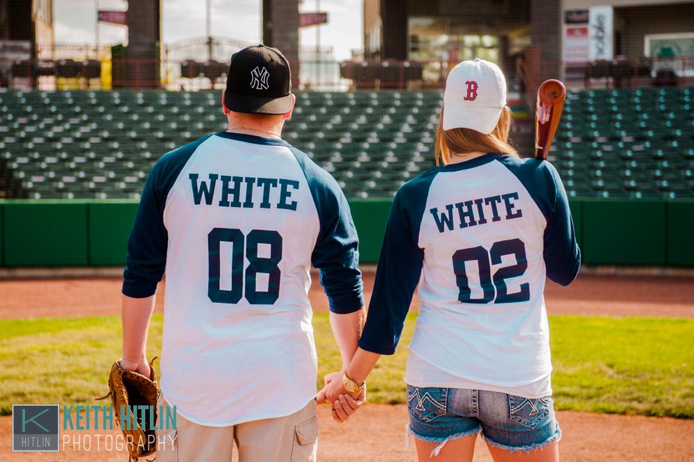 sarah dan s baseball troy engagement session troy ny engagement